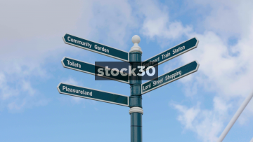 Tourist Directions Sign In Southport, UK