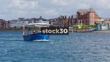 Cruise Boat On Marine Lake In Southport, UK