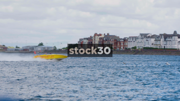 Southport Jet Speedboat Speeding Around Marine Lake In Southport, UK