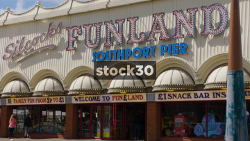 Silcocks Funland Amusement Arcade At Southport Pier. Zoom Out