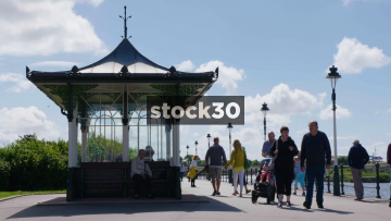 Victorian Seaside Shelter In Southport, UK