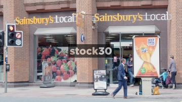 Sainsbury's Local On Deansgate In Manchester, UK