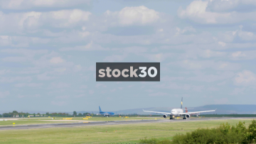 Thomas Cook Airbus A330-243 Taking Off From Manchester Airport, UK