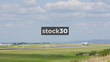Thomas Cook Airlines Airbus A321-211 Taking Off From Manchester Airport, UK