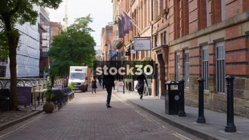 Canal Street In Manchester, Slow Zoom In, UK