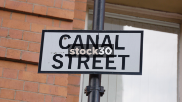 Canal Street Signs In Manchester, UK