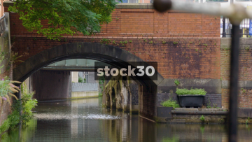 The Rochdale Canal By Canal Street In Manchester, UK