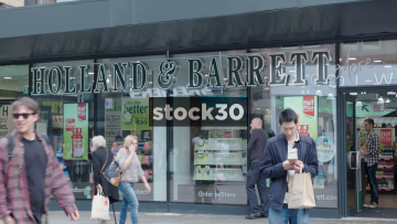 Holland And Barrett On Market Street In Manchester, UK