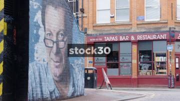 Tony Wilson Artwork In Manchester's Northern Quarter
