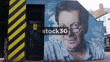 Artwork of Tony Wilson In The Northern Quarter, Manchester