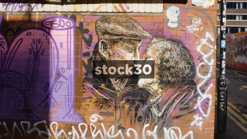 Graffiti Artwork On Warwick Street In Manchester, UK