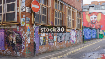 Graffiti On Warwick Street And Spear Street In Manchester, UK