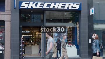 Skechers On Market Street In Manchester, UK
