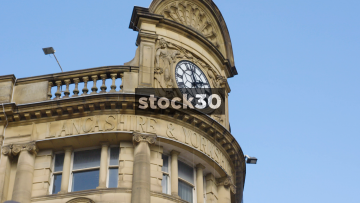 Manchester Victoria Station Clock And Directions Signs, UK
