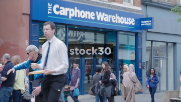 Carphone Warehouse On Market Street In Manchester, UK