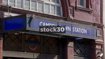 Camden Town London Underground Station, Zoom Out, UK