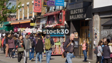 Electric Ballroom And T Shirt Stalls Near Camden Market, UK