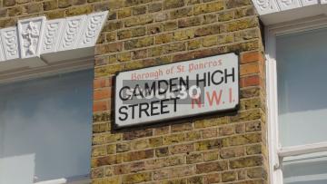 Camden High Street NW1 Sign, UK