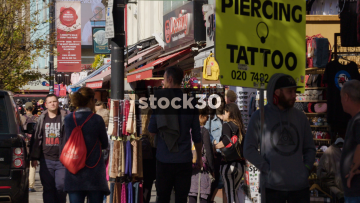 Stalls On Camden High Street, UK
