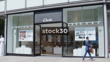 Clarks Shoe Shop On Market Street In Manchester, UK