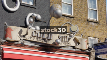 Cold Steel Body Piercing & Tattoos On Camden High Street, UK