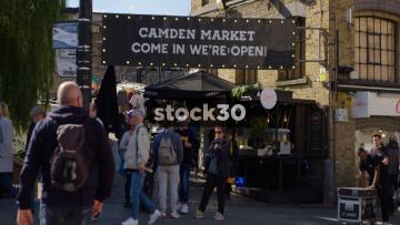 Camden Market Entrance And Sign, UK