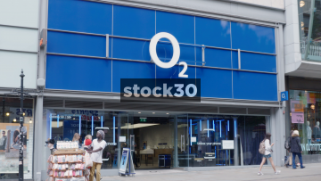 O2 On Market Street In Manchester, UK