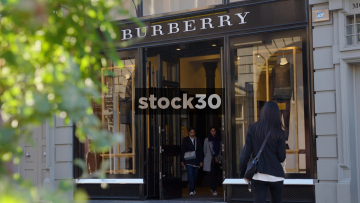 Burberry Store Near Covent Garden In London, UK