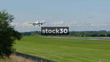 Air Transat Airbus A330-243 Landing At Manchester Airport, UK