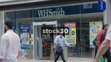 WHSmith On Market Street In Manchester, UK