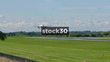 Icelandair Boeing 757-256 Landing At Manchester Airport, UK