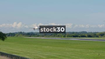 Easyjet Airbus A320-214 Landing At Manchester Airport, UK