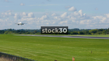 Ryanair Boeing 737-8AS Landing At Manchester Airport, UK