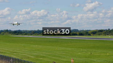Thomas Cook Airbus A321-211 Landing At Manchester Airport, UK