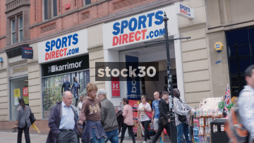 Sports Direct On Market Street In Manchester, UK