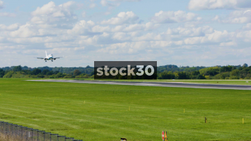 Flybe Embraer ERJ-175STD Landing At Manchester Airport, UK