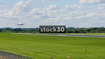 Flybe Embraer ERJ-175STD Landing At Manchester Airport, UK