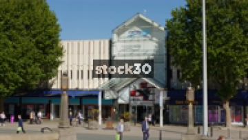 Merseyway Shopping Centre In Stockport, UK