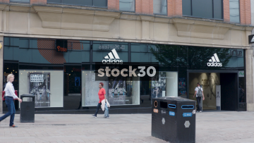 Adidas On Market Street In Manchester, UK