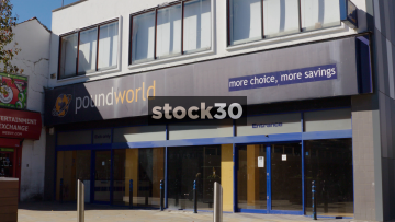 Closed Down Poundworld Shop In Stockport, UK