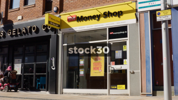 The Money Shop On Prince's Street In Stockport, UK