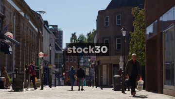Great Underbank In Stockport Town Centre, UK