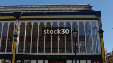 Market Hall Indoor Market In Stockport, Exterior And Interior, UK