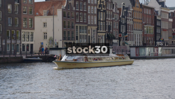 Albert Pieter Tour Boat On The Amstel River In Amsterdam, Netherlands