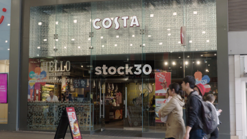 Costa Coffee On Market Street In Manchester, UK