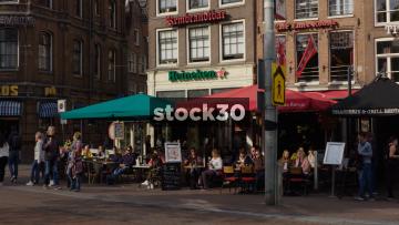 Rembrandtbar On Rembrandtplein In Amsterdam, Netherlands