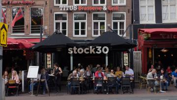 Titus Brasserie & Grill On Rembrandtplein In Amsterdam, Netherlands