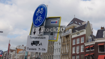 Road Signs In Amsterdam, Netherlands