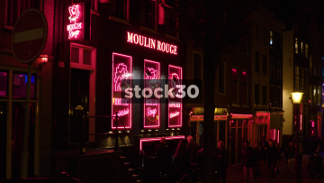 The Moulin Rouge Sex Theatre In Amsterdam's Red Light District, Netherlands