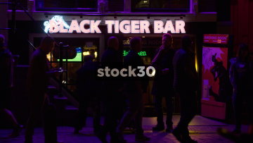 Black Tiger Bar In Amsterdam's Red Light District, Netherlands